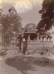 Closer view of the Shiva temple of the Chandella period, Gehraho, Jhansi District
